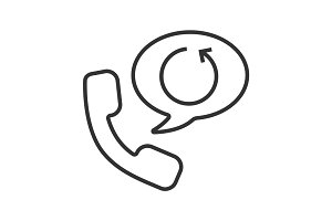 Call back service linear icon