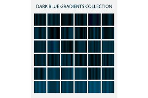 36 dark blue color gradients