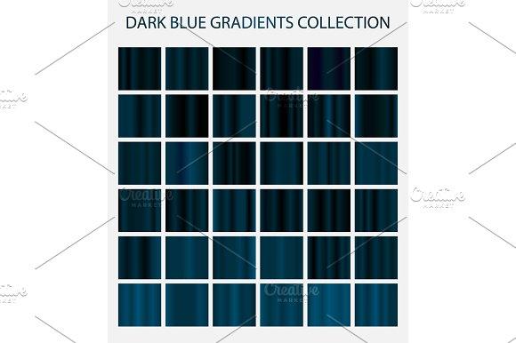 36 Dark Blue Color Gradients