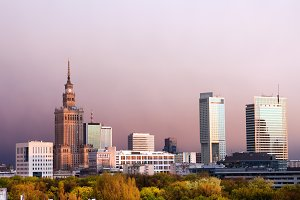 City of Warsaw Skyline