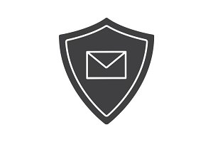 Email security glyph icon
