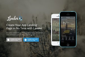 Lander - Responsive App Landing