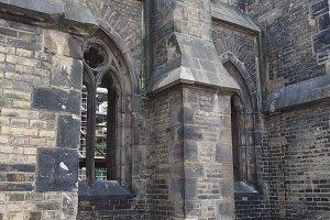 St Nicholas church ruins in Hamburg