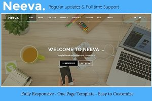 Neeva - One Page Bootstrap template