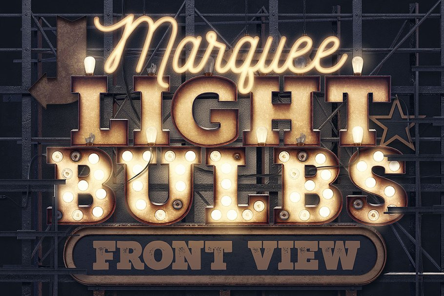 best service eb2eb 813a0 Marquee Light Bulbs - Front View