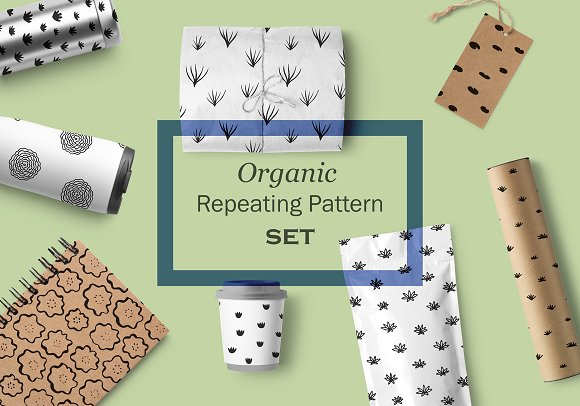 8 Organic Repeating Pattern Set