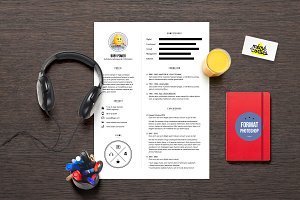 Power - Resume template Photoshop