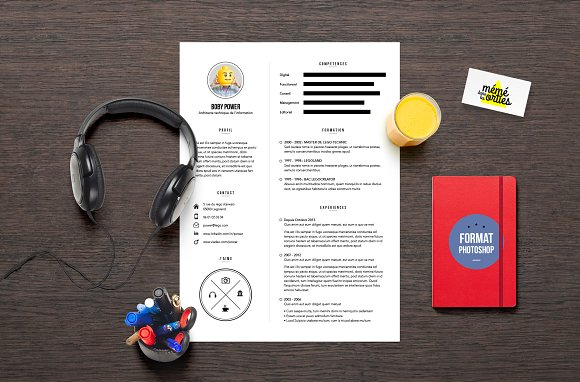 power resume template photoshop resumes - Photoshop Resume Template
