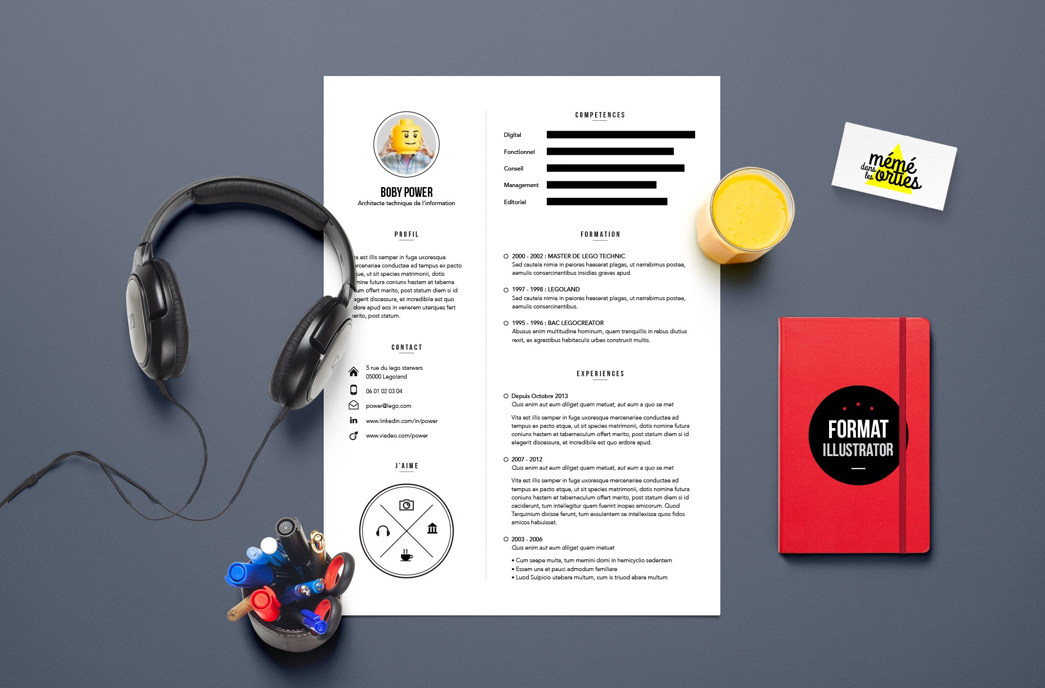 power resume template illustrator resume templates creative