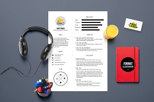 Power - Resume template Illustrator