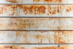 Rusted on the old metal