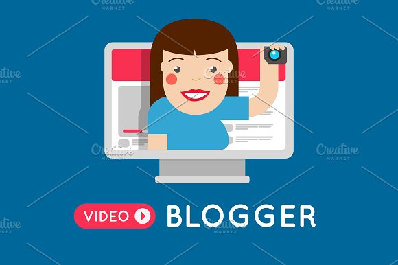 Fashion Vlogger Girl Video Blogger