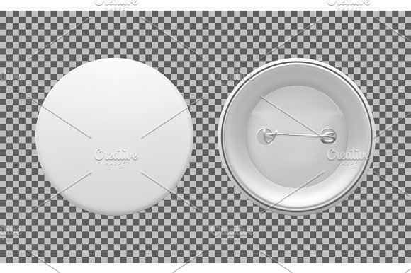 empty pin badge template illustrations creative market
