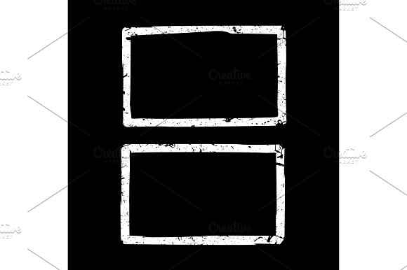 Grunge White Borders