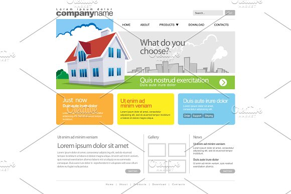Color Website Template