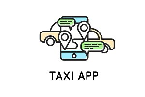 Mobile app for ordering taxi