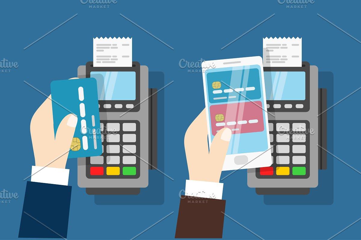 Nfc payment pos terminal  ~ Graphics ~ Creative Market