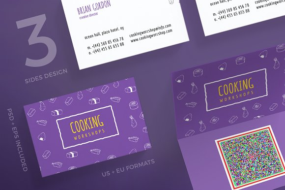 Business Cards Cooking Workshop