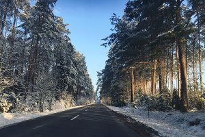 Winter on road