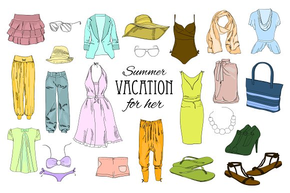 Women Clothes Set Mega-clipart