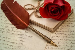 Love Letter and Rose Flower