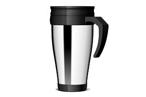 Shiny Metal travel thermo cup
