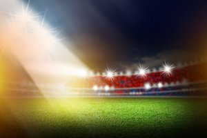 Soccer stadium with light