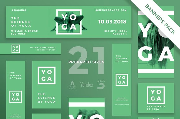 Banners Pack   Science of Yoga