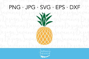 Pineapple SVG Cut File & Clipart