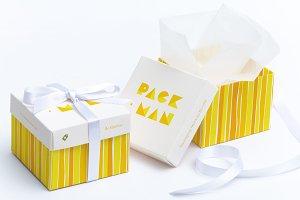 Cube Gift Box Mockup 01