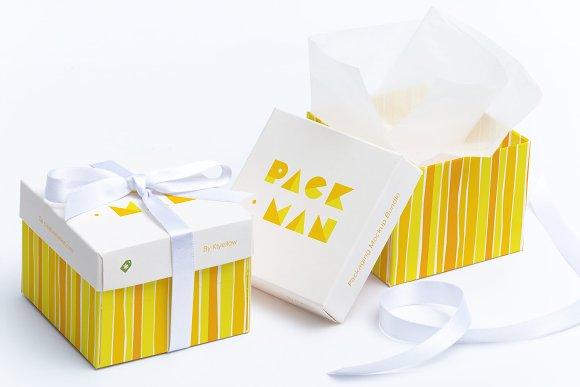 Download Cube Gift Box Mockup 01