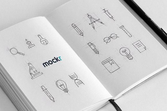 Free Realistic Sketchbook Mockup Psd