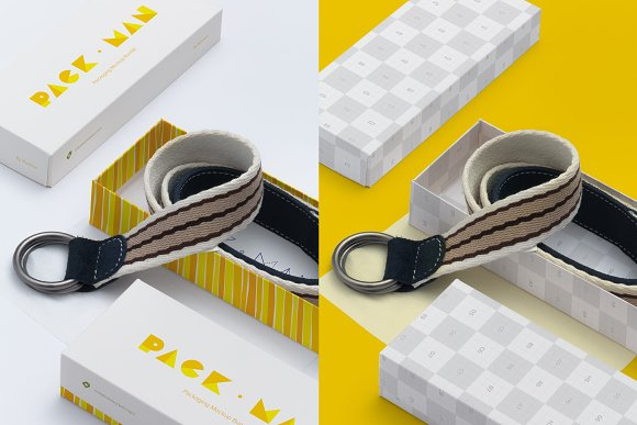 Rectangular Gift Box Mockup 01