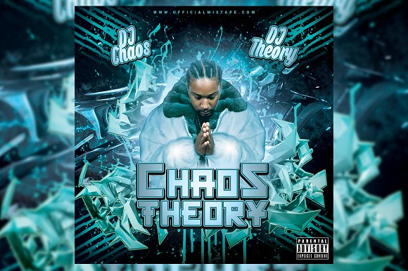 Chaos Theory CD Cover Template in Templates