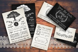 Rustic Wedding Invitation Pack