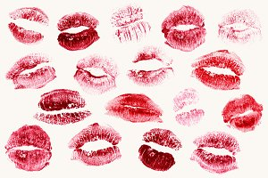 Realistic Lipstick Kisses