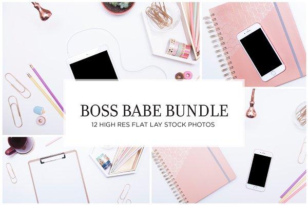 Boss Babe Flat Lay Stock Bundle