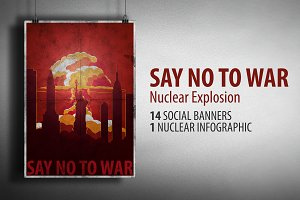 Nuclear Explosion. Say No To War.