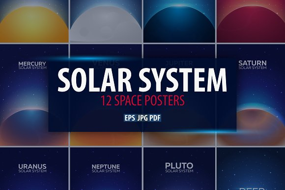 Solar System Space Posters
