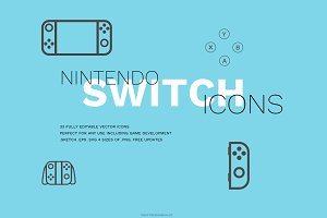 Nintendo Switch Icon Set