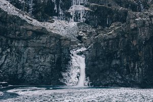 Waterfall in Winter #08