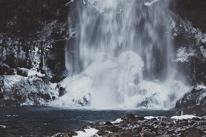 Waterfall in Winter #09