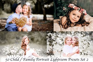 50 Child / Family Lightroom Presets