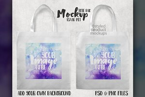 Tote Bag Mockup front and back