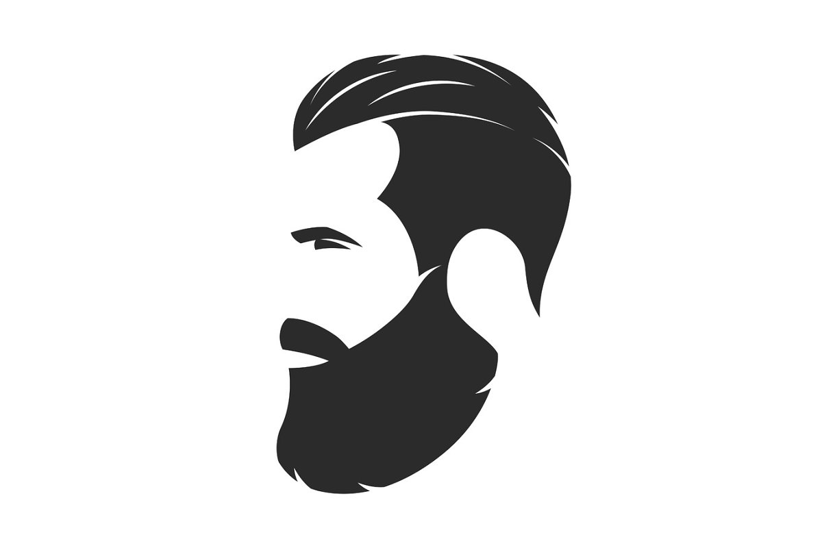 Save silhouette of a bearded man