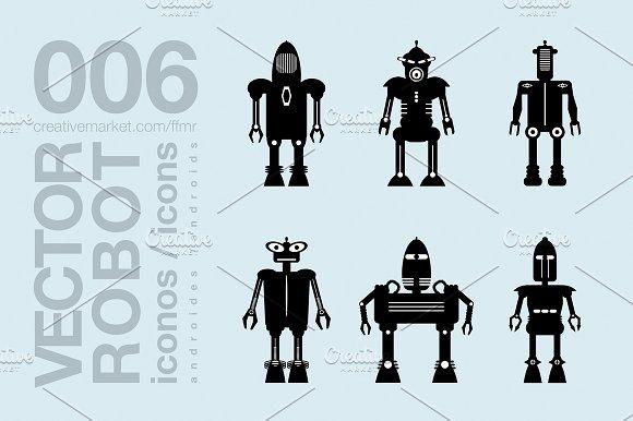 Robots Flat Icons 001