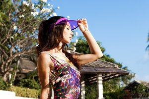 Girl in beautiful bikini