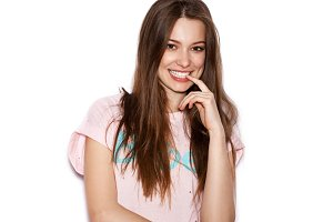 funny cute smiling woman