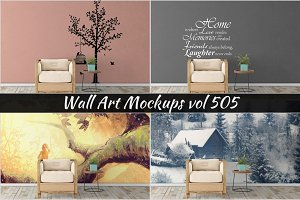 Wall Mockup - Sticker Mockup Vol 505