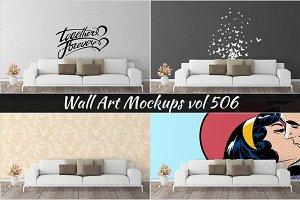 Wall Mockup - Sticker Mockup Vol 506